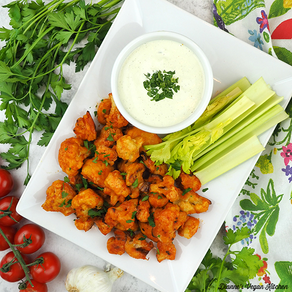 Buffalo Cauliflower Square