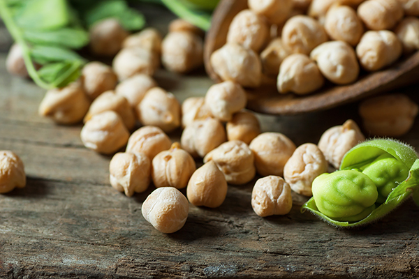 close up of chickpeas