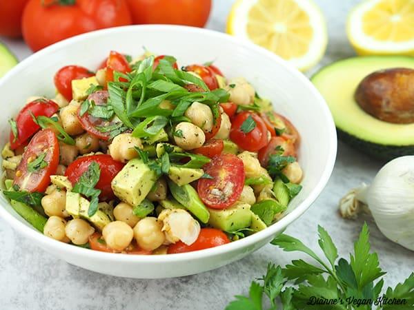 Vegan Avocado Chickpea Salad horizontal