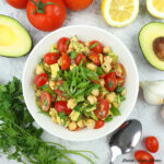 Vegan Avocado Chickpea Salad square