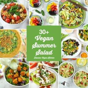 30+ Best Vegan Summer Salads collage