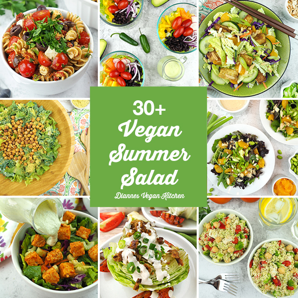 30+ Best Vegan Summer Salads collage