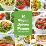 vegan quino recipes collage