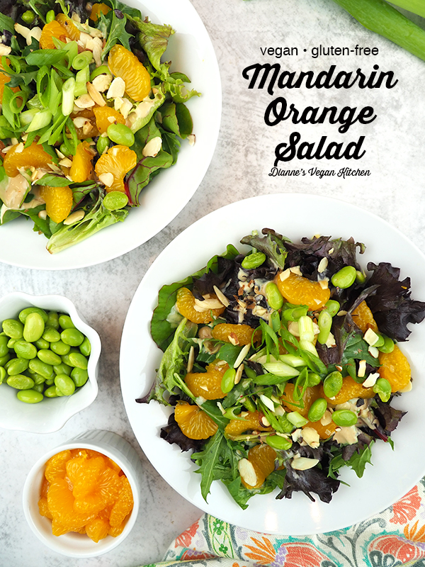 Mandarin Orange Salad with text overlay