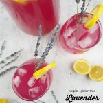 Lavender Lemonade from above with text overlay