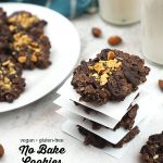 Vegan No Bake Cookies with text overlay