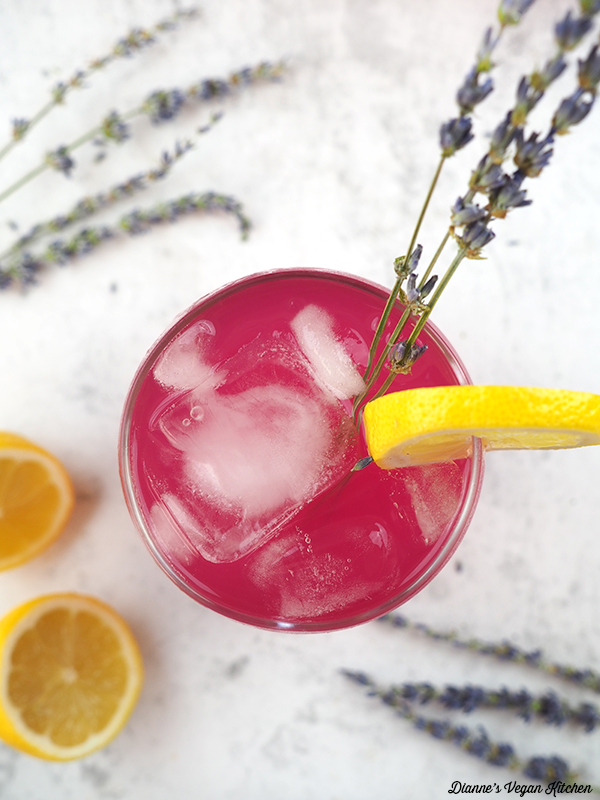 Lavender Lemonade glass from above