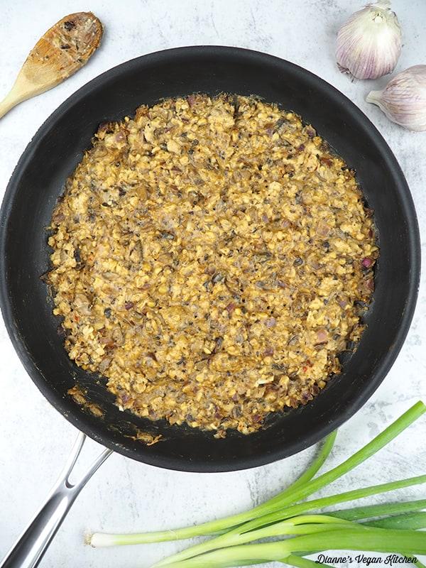 tempeh in pan