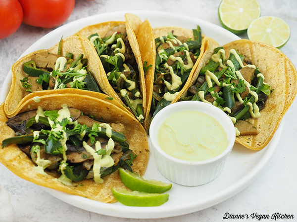 Seitan Chimichurri Tacos on plate