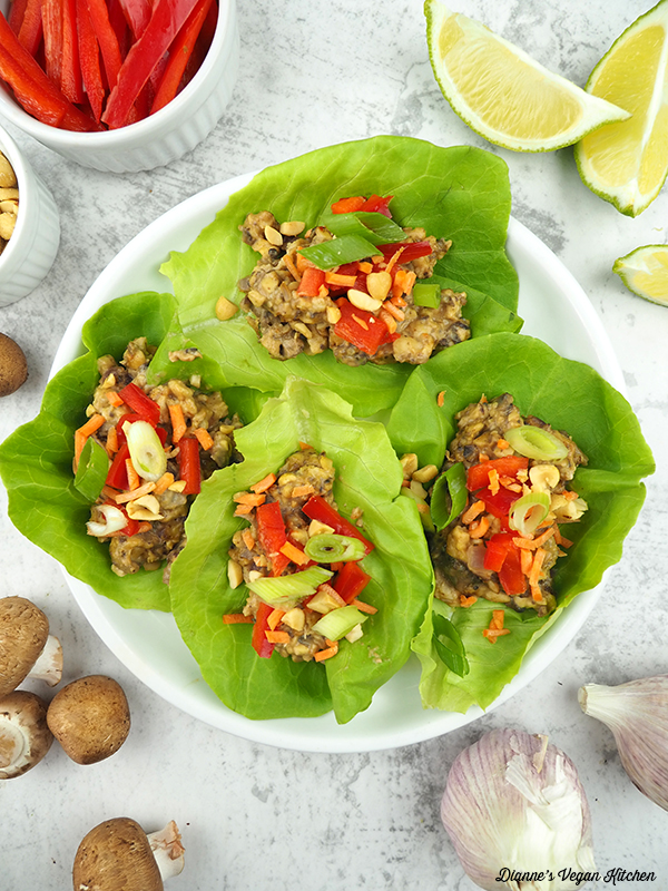 lettuce wraps on plate