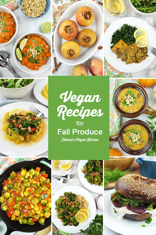 Autumn Produce in Season Right Now with Vegan Recipes