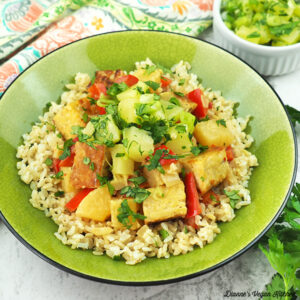 coconut tempeh square
