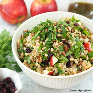farro salad with apples and cranberries