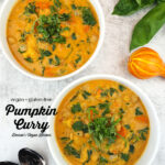 Pumpkin Curry with text overlay
