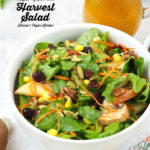 Harvest Salad with Pumpkin Vinaigrette with text overlay