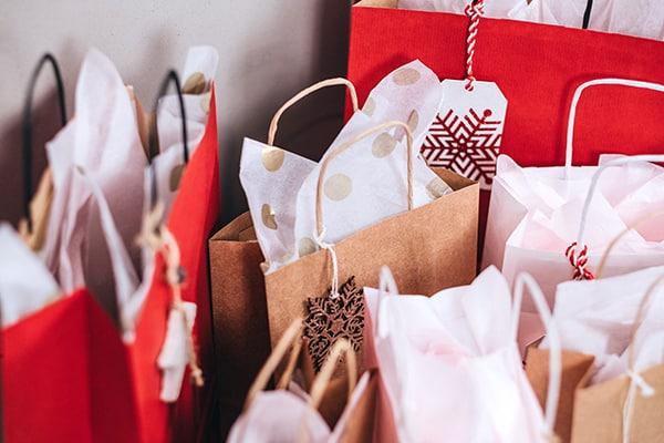 Vegan Holiday Gifts - Christmas gift bags