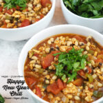 Black Eyed Pea Chili with text overlay