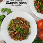 Vegan Hoppin' John with text overlay