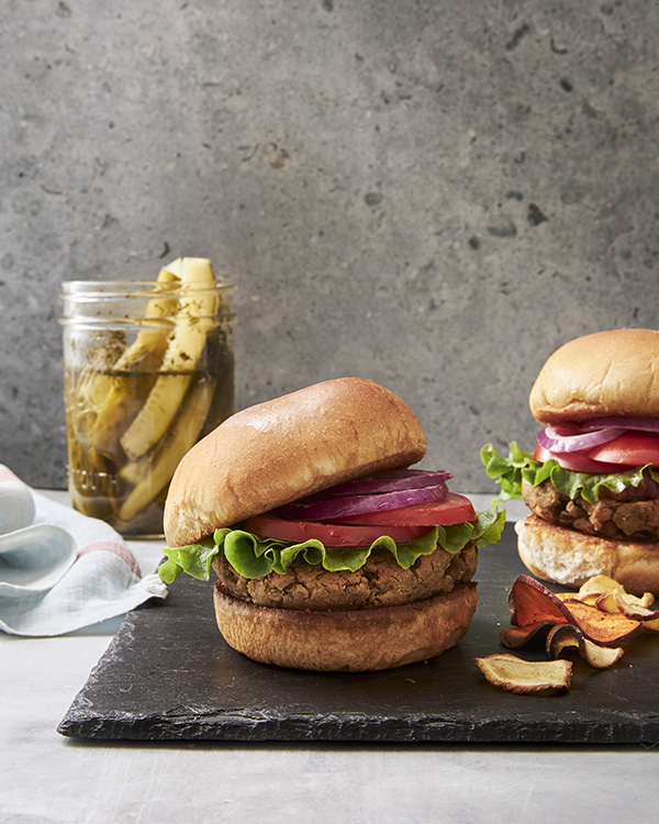 Chickpea Mushroom Burgers from The Big Book of Vegan Cooking