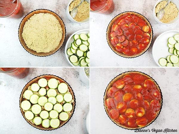 making tart collage