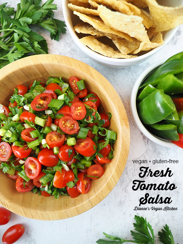 Fresh Tomato Salsa with text overlay