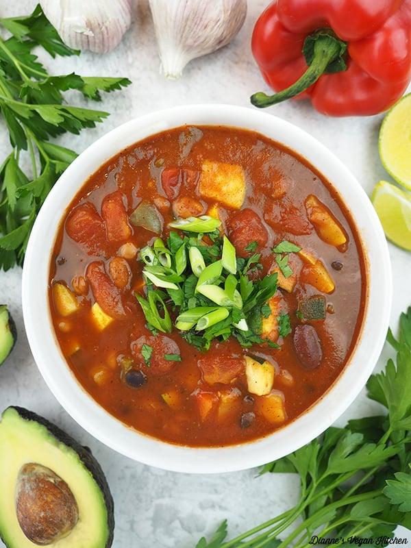 One bowl of Three Bean Chili