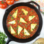 Vegan Shakshuka in pan square