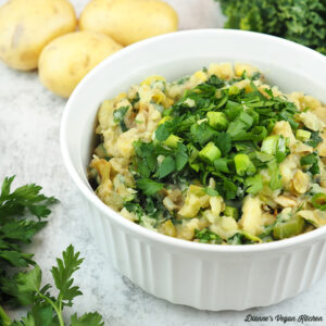 colcannon with potatoes and kale, square