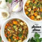 two bowls of stew with text overlay