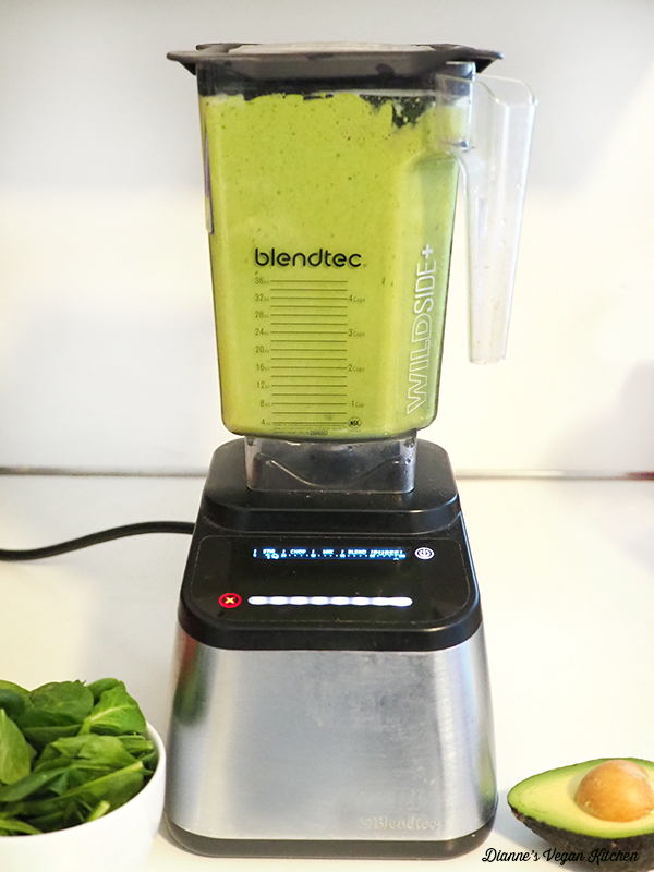 making a shake in the blender