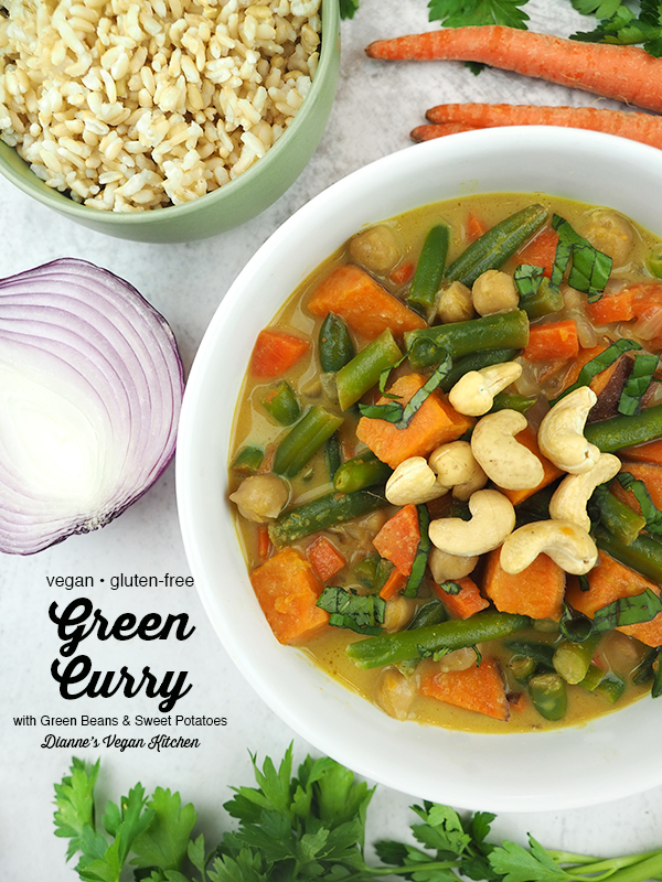 one bowl of curry with rice, carrots, onion, and text overlay