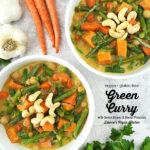 Vegan Green Curry with text overlay