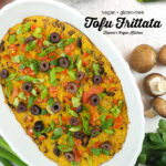 Tofu Frittata with text overlay