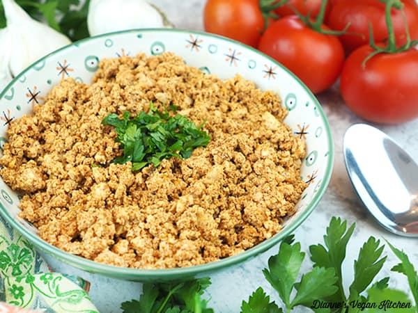 chorizo in bowl horizontal
