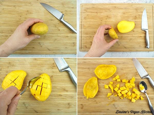 cutting mango