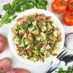 vegan german potato salad square