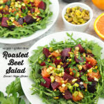 Roasted Beet Salad with text overlay