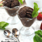 Melted Truffle Dark Chocolate Ice Cream with text overlay