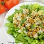Roasted Cauliflower Salad with text overlay
