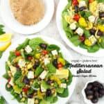 two salads with Mediterranean Salad