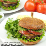 Grilled Portobello Sandwiches with text overlay