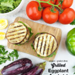Grilled Eggplant Sandwiches with text overlay