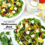 two salads with text overlay