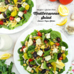 2 salads with text overlay