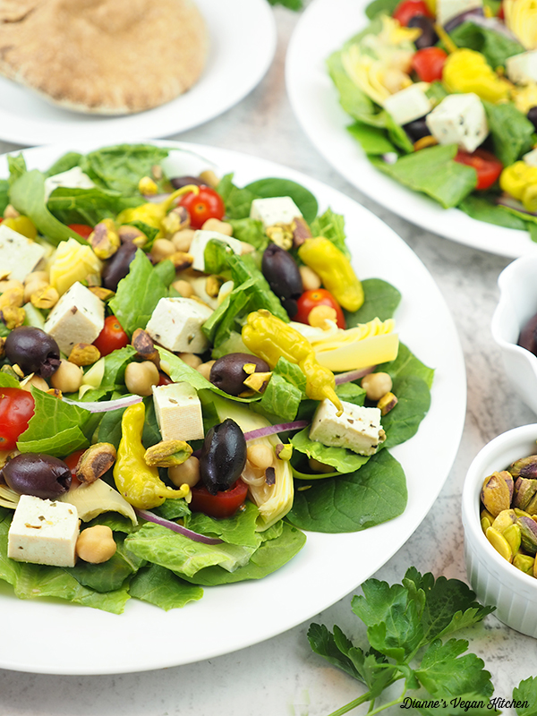 close up of Mediterranean Salad