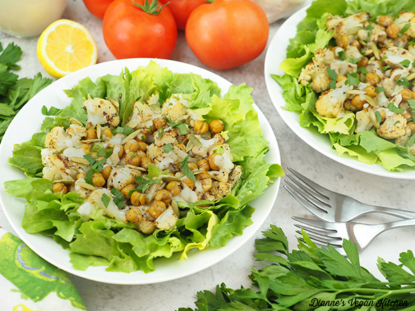 Roasted Cauliflower Salads horizontal