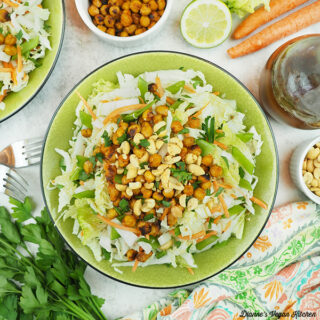 Spicy chickpea and cabbage salad square