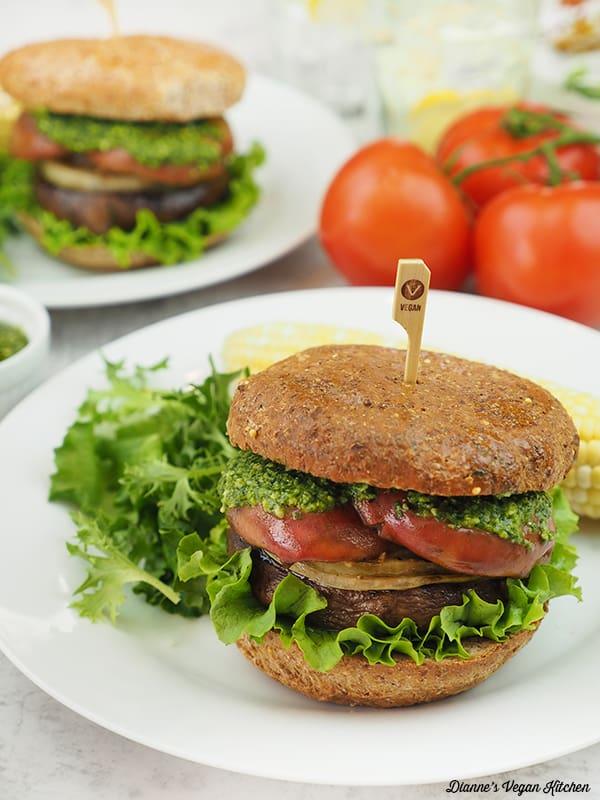 Grilled Portobello Sandwich on plate