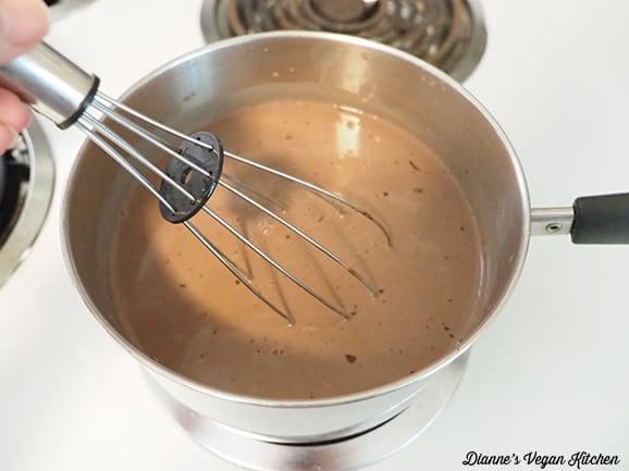 stirring chocolat milk