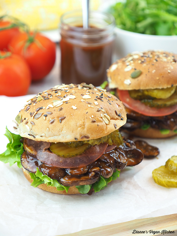 Two Pulled Mushroom Sandwiches